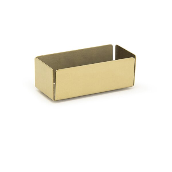 Matte Brass Packet Holder (Set of 2) by Front Of The House