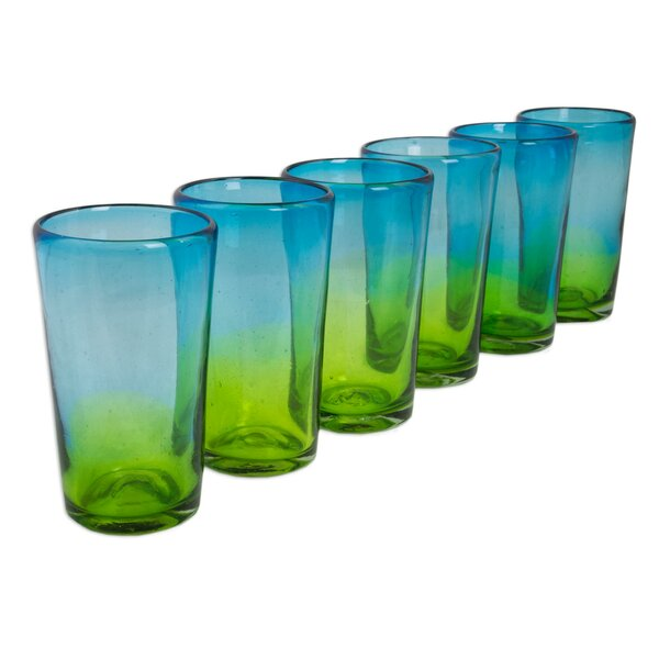 Aurora Tapatia 15 oz. Highball Glass (Set of 6) by Novica