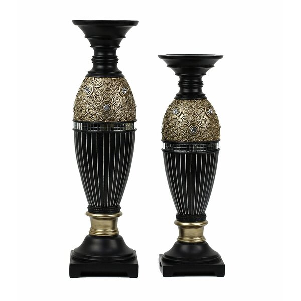 Iris 2 Piece Candlestick Set by D'Lusso Designs
