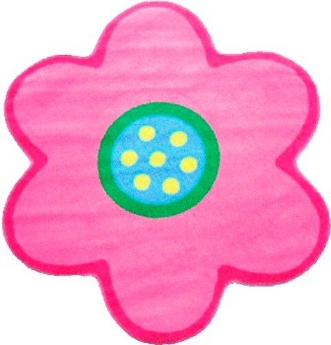 Fun Time Shape Poppy Light Pink Kids Area Rug by Fun Rugs