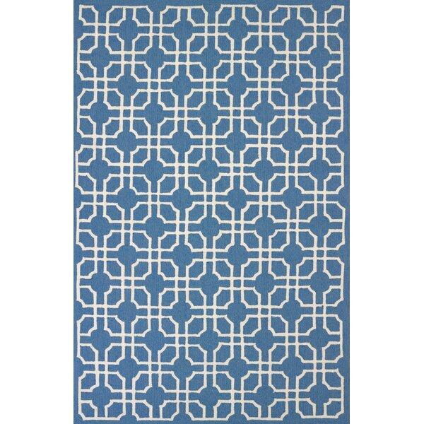 Atrium Blue Indoor/Outdoor Area Rug by Wrought Studio