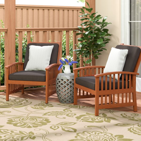 Bastion Outdoor Armchair (Set of 2) by Darby Home Co