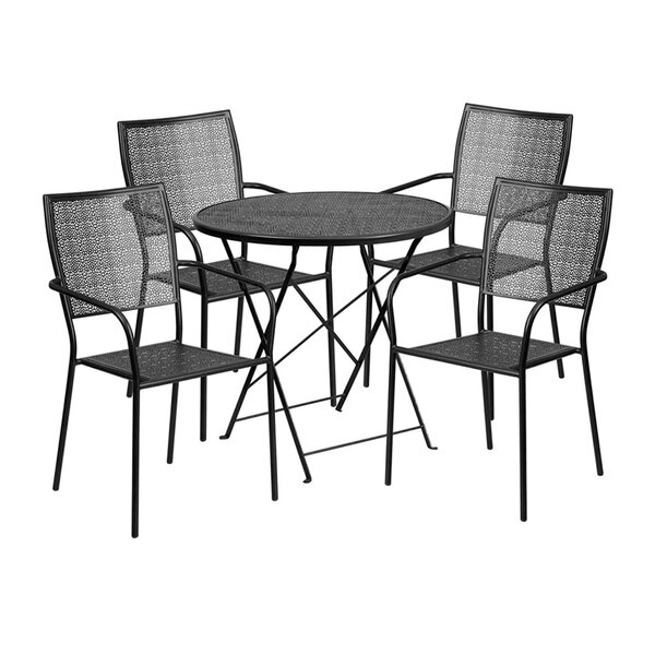 Speegle Outdoor Steel 5 Piece Dining Set by Winston Porter