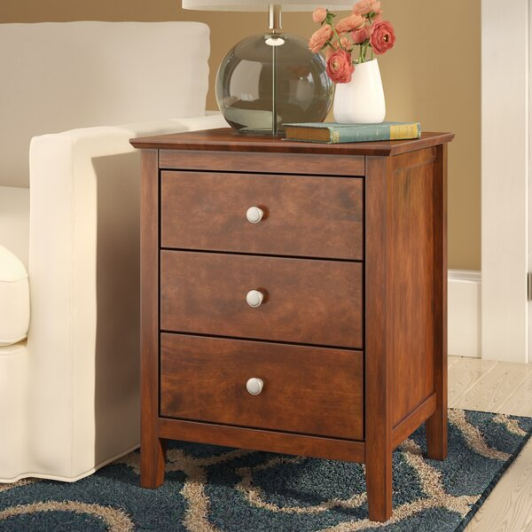 Etheridge 3 Drawer Nightstand by Red Barrel Studio