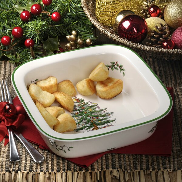 Christmas Tree Square Bake Baker by Spode