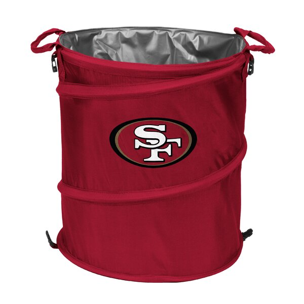 NFL Collapsible 13 Waste Basket by Logo Brands