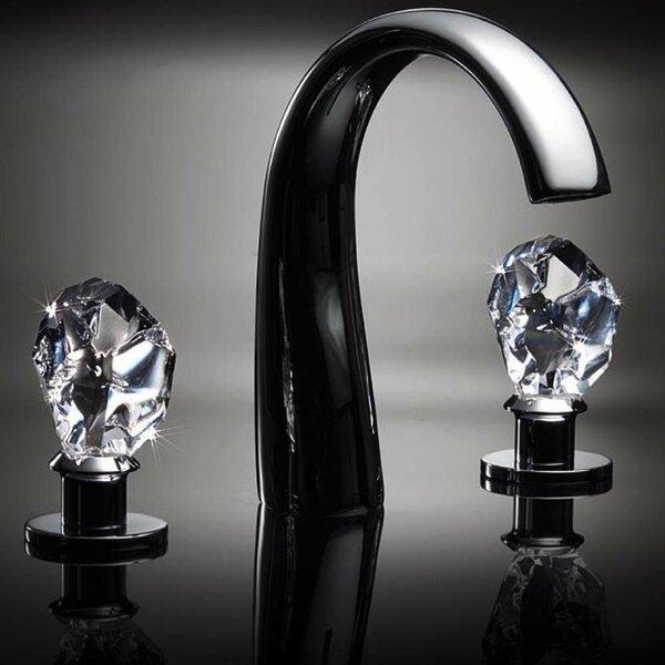 Swarovski Crystal Widespread Bathroom Faucet