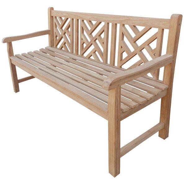 Maisie Teak Garden Bench by Rosecliff Heights