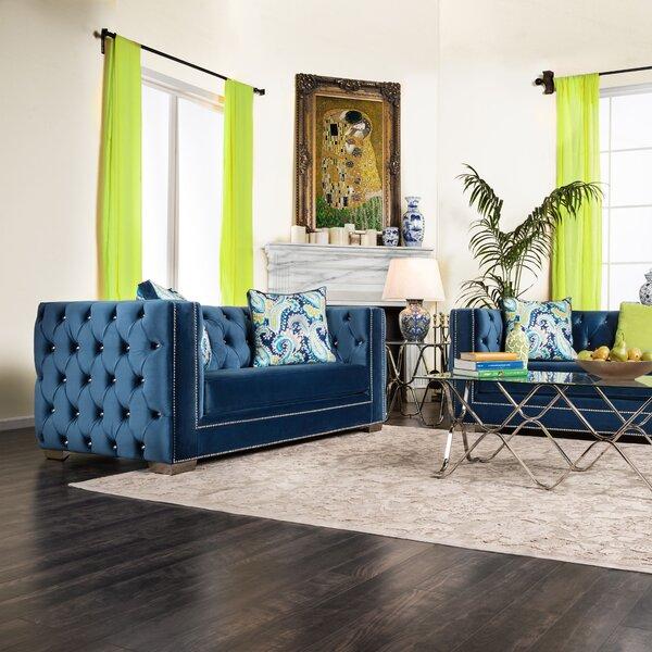 Ama Tuxedo Chesterfield Sofa by Willa Arlo Interiors
