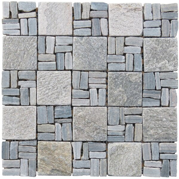 Landscape Wonder 2 x 2 Stone Mosaic Tile in Gray by Intrend Tile
