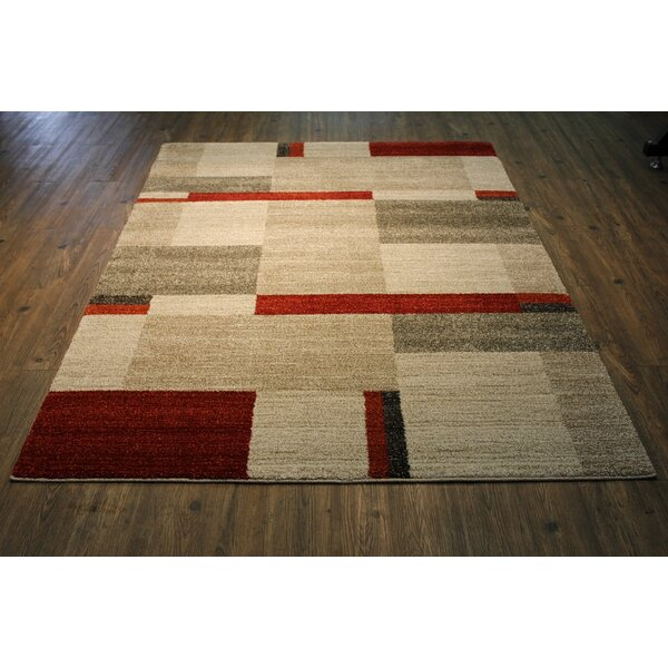 Vogelsang Contemporary Black/Gray Area Rug by Latitude Run