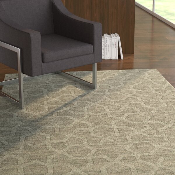 Dobson Handmade Gray Area Rug by Ebern Designs