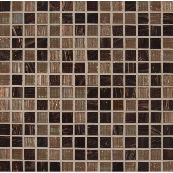 Iridescent 0.75'' x 0.75'' Glass Mosaic Tile in Brown by MSI