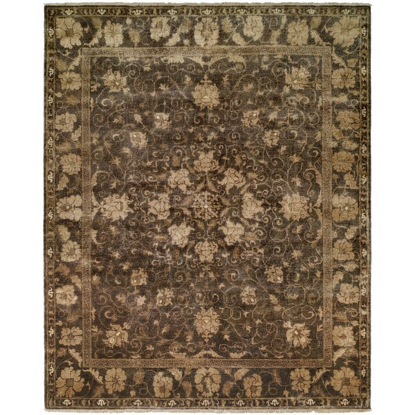 Heppner Hand Knotted Wool Gray Area Rug