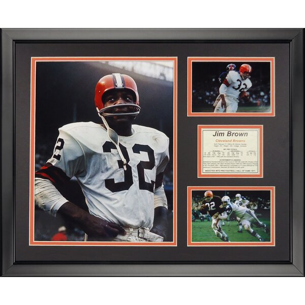 NFL Cleveland Browns - Jim Framed Memorabili by Legends Never Die