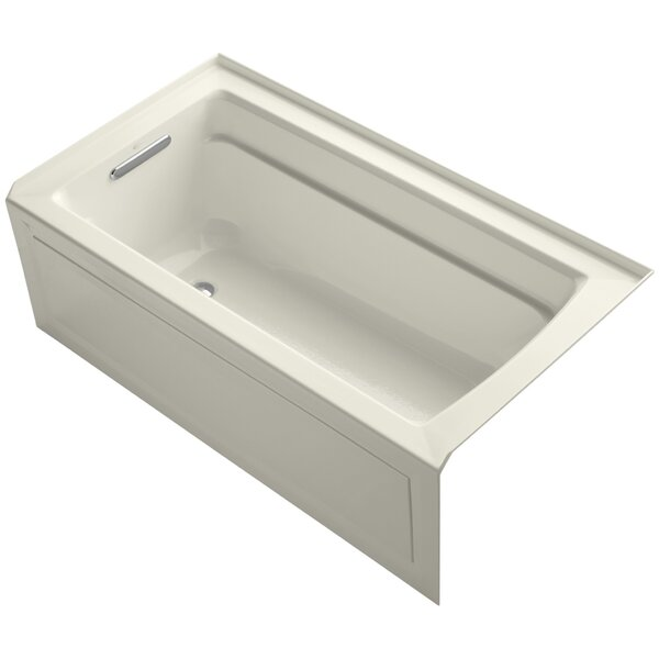 Archer 60 x 32 Alcove Bathtub with Integral Apron and Left-hand Drain by Kohler