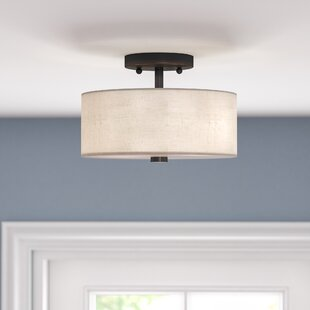 Read Reviews Alina 2-Light Semi Flush Mount By Ivy Bronx