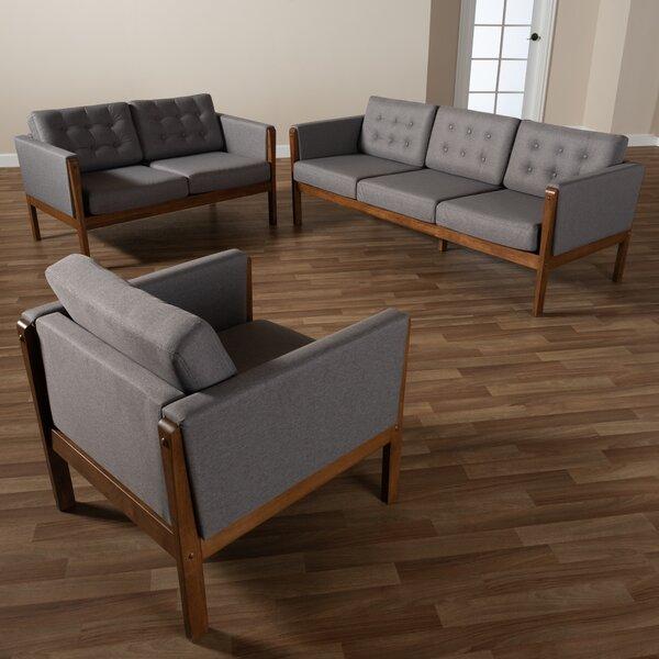 Mont 3 Piece Living Room Set by Ivy Bronx Ivy Bronx