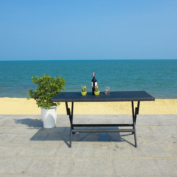 Ched Folding Rattan Dining Table by Red Barrel Studio