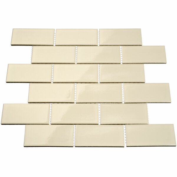 2 x 4 Porcelain Mosaic Tile in Beige by Giorbello