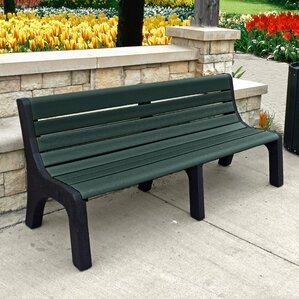 Newport Resin Wood Bench by Frog Furnishings
