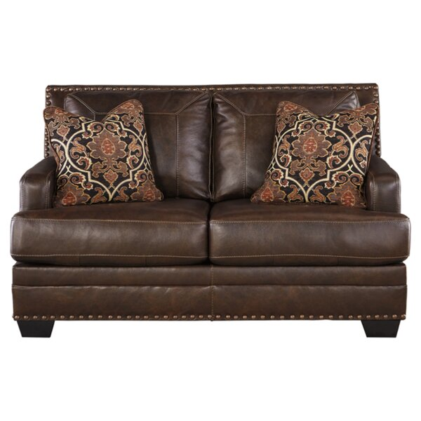 Almeda Leather Loveseat by Darby Home Co