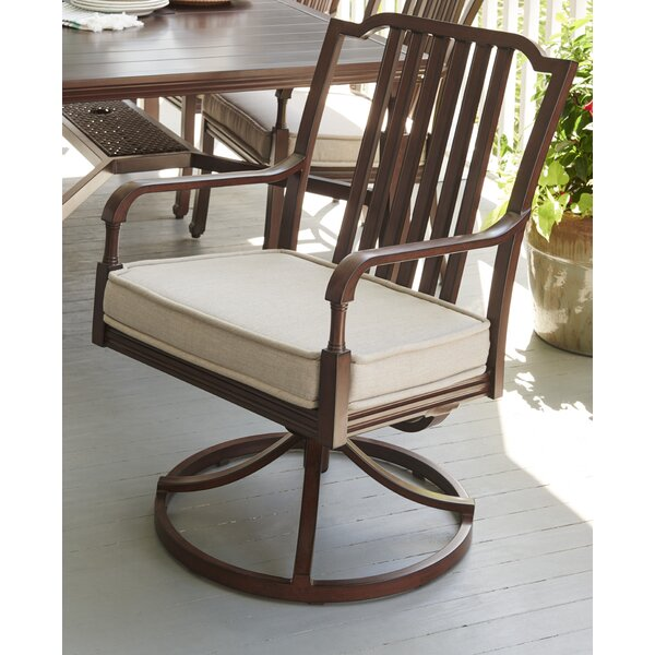 River House Swivel Patio Dining Chair with Cushion (Set of 2) by Paula Deen Home
