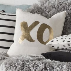 Carnell XO Cotton Throw Pillow Cover by Mercury Row