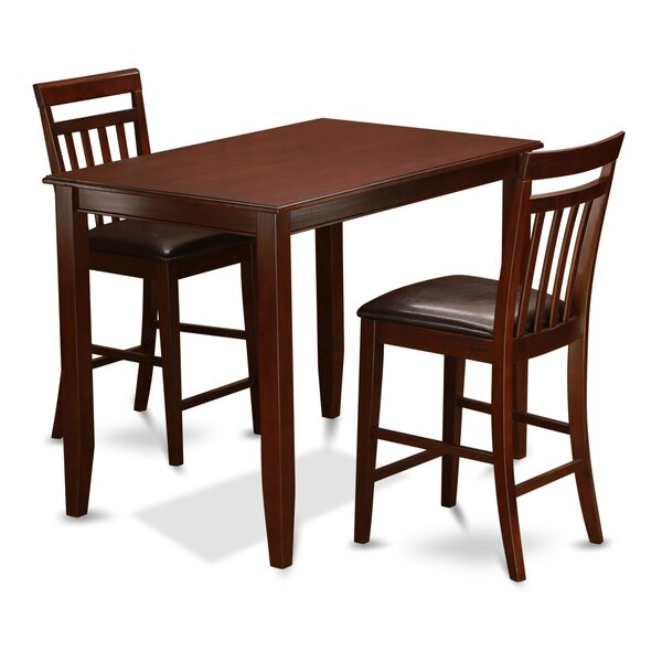 Buckland 3 Piece Counter Height Dining Set by East West Furniture