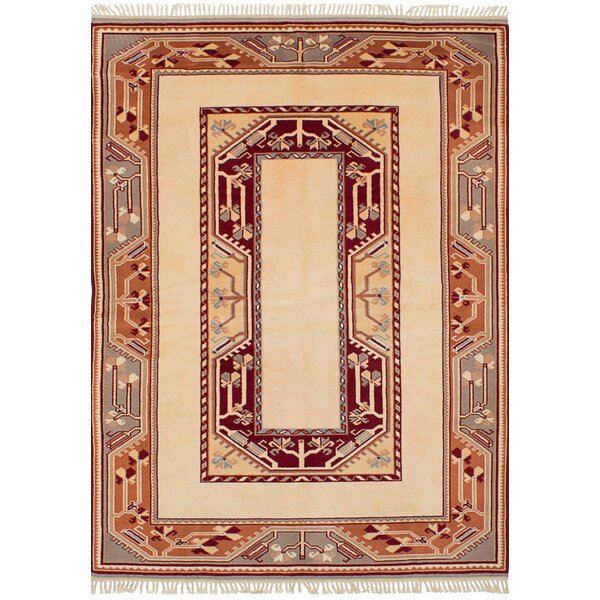 One-of-a-Kind Bettina Hand-Knotted Wool Ivory Area Rug by Bloomsbury Market