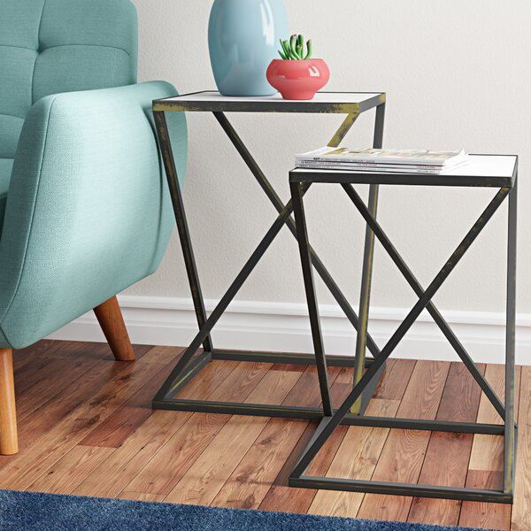 Read Reviews Dawson 2 Piece Nesting Tables