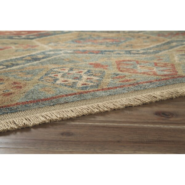 Petro Red/Blue Area Rug by World Menagerie