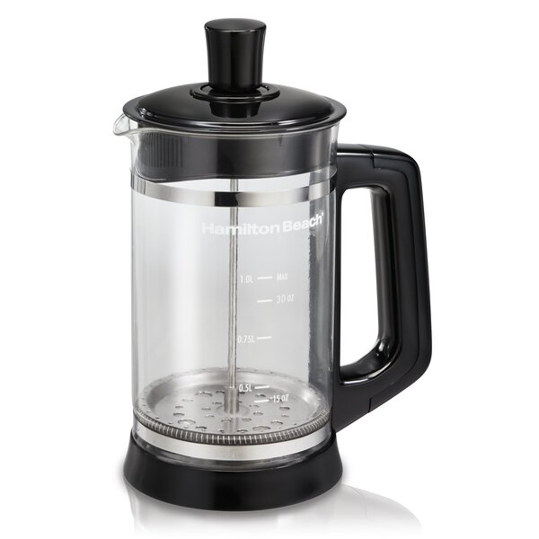 French Press Coffee Maker with Cocoa Attachment by Hamilton Beach