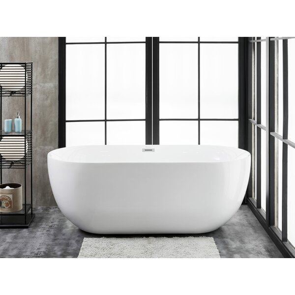 Siena 59 L x 28 W Freestanding Soaking Bathtub by Finesse