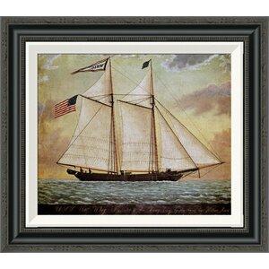 'The Schooner Whig' by American School Framed Painting Print by Global Gallery