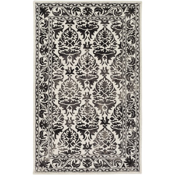 Henricks Hand-Tufted Charcoal/Off-White Area Rug by Alcott Hill