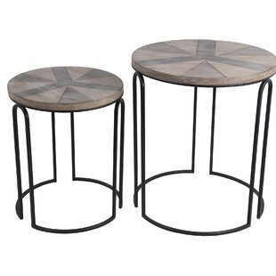 Olmstead 2 Piece Nesting Tables by Union Rustic