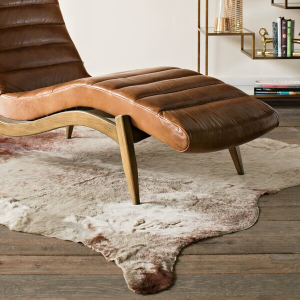Lorain Light Brindle Tan Cowhide Rug by Wade Logan