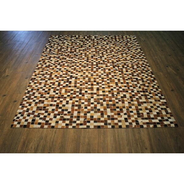 One-of-a-Kind  Cincinnati Authentic Handmade Brown/Beige Area Rug by Foundry Select
