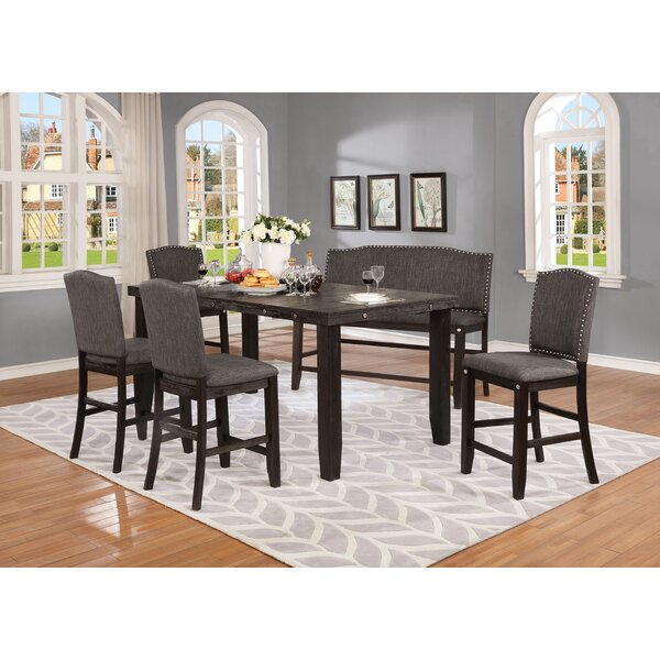 Dykstra 6 Piece Counter Height Solid Wood Dining Set by Darby Home Co