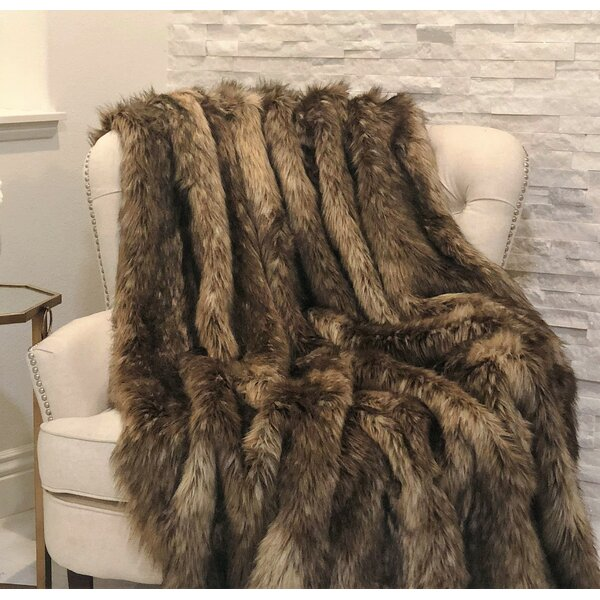 Mountain Coyote Handmade Throw by Plutus Brands