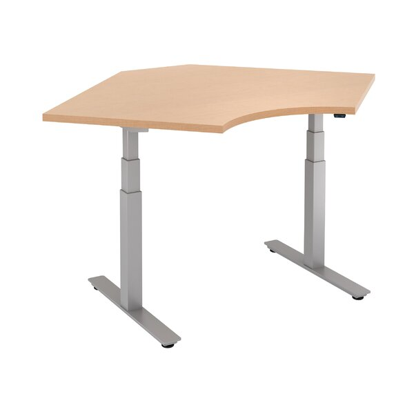 Curved Corner Height Adjustable Standing Table by Trendway