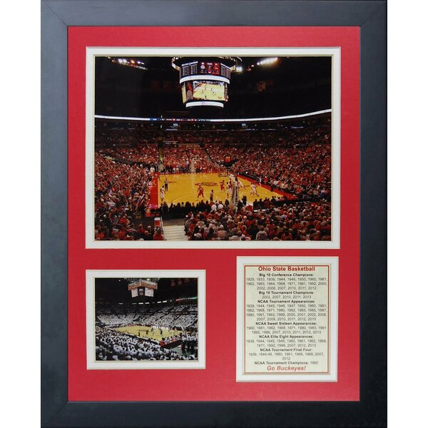 Ohio State Buckeyes - Basketball Arena Framed Memorabilia by Legends Never Die