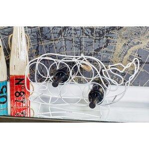 Metal Whale 6 Bottle Tabletop Wine Bottle Rack by Cole & Grey