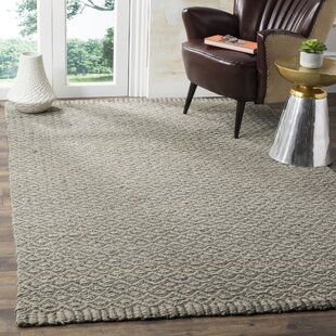 Leesport Hand Woven Gray Area Rug by Gracie Oaks