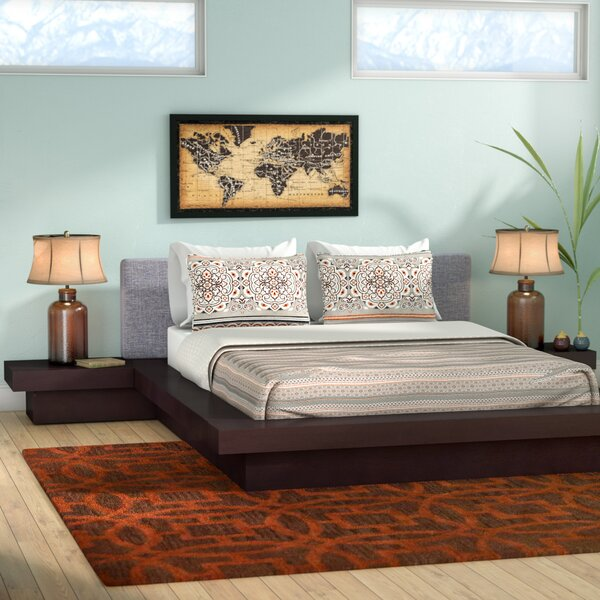Great price Rennan Queen Platform 3 Piece Bedroom Set By World Menagerie Cheap