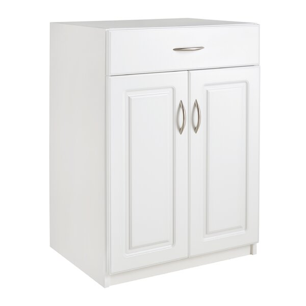 "Dimensions 35.51"" H x 24.02"" W x 18.03"" D 2 Door and Single Drawer Base Cabinet by ClosetMaid"