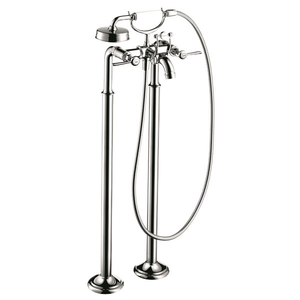Axor Montreux Two Handle Floor Mounted Freestanding Tub Filler by Axor