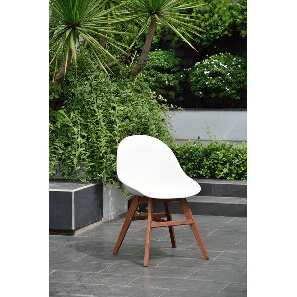 Jacinta Teak Patio Dining Chair (Set of 2) by Wrought Studio