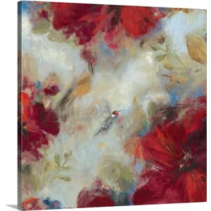 Hummingbird I by Asia Jensen Painting Print on Wrapped Canvas by Great Big Canvas